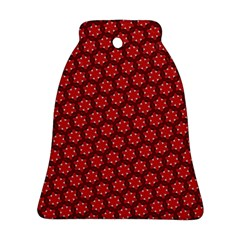 Red Passion Floral Pattern Bell Ornament (2 Sides)