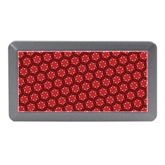 Red Passion Floral Pattern Memory Card Reader (Mini)