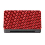 Red Passion Floral Pattern Memory Card Reader with CF Front