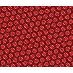 Red Passion Floral Pattern Deluxe Canvas 14  x 11  14  x 11  x 1.5  Stretched Canvas