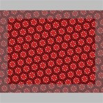 Red Passion Floral Pattern Deluxe Canvas 16  x 12   16  x 12  x 1.5  Stretched Canvas