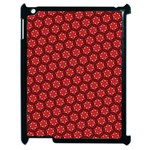 Red Passion Floral Pattern Apple iPad 2 Case (Black) Front
