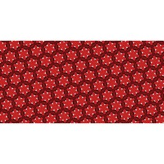 Red Passion Floral Pattern YOU ARE INVITED 3D Greeting Card (8x4)