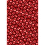 Red Passion Floral Pattern You Rock 3D Greeting Card (7x5) Inside