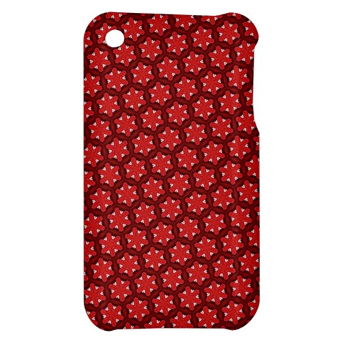 Red Passion Floral Pattern Apple iPhone 3G/3GS Hardshell Case