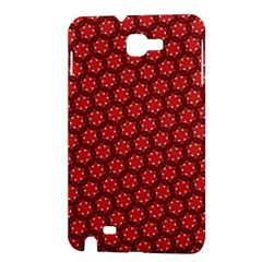 Red Passion Floral Pattern Samsung Galaxy Note 1 Hardshell Case