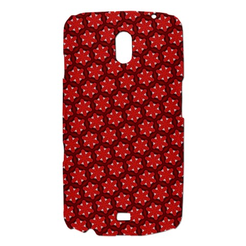 Red Passion Floral Pattern Samsung Galaxy Nexus i9250 Hardshell Case