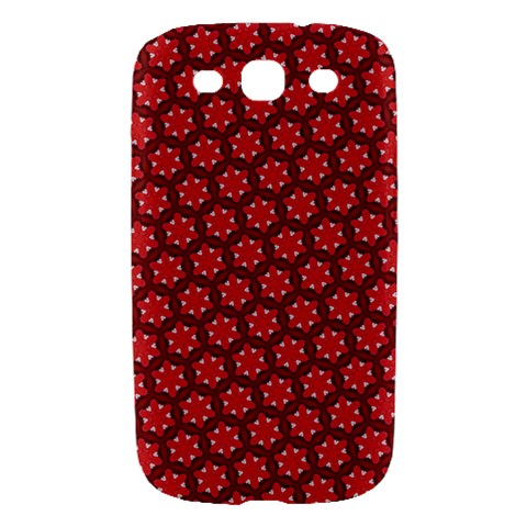 Red Passion Floral Pattern Samsung Galaxy S III Hardshell Case