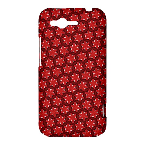 Red Passion Floral Pattern HTC Rhyme