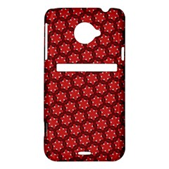 Red Passion Floral Pattern HTC Evo 4G LTE Hardshell Case