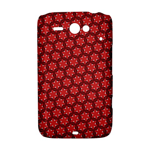 Red Passion Floral Pattern HTC ChaCha / HTC Status Hardshell Case