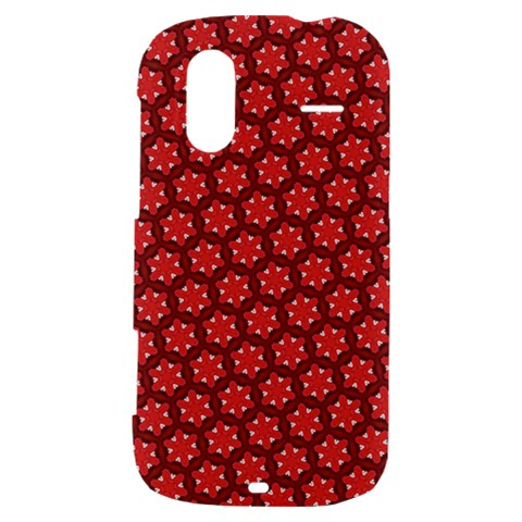 Red Passion Floral Pattern HTC Amaze 4G Hardshell Case