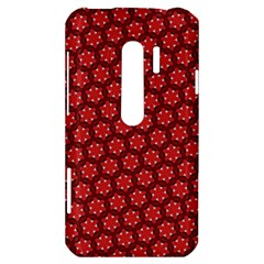 Red Passion Floral Pattern HTC Evo 3D Hardshell Case