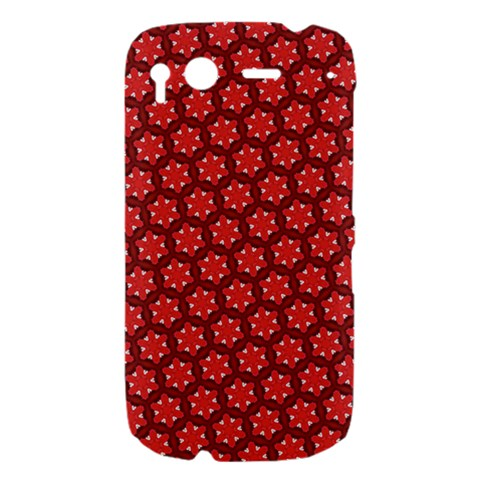 Red Passion Floral Pattern HTC Desire S Hardshell Case