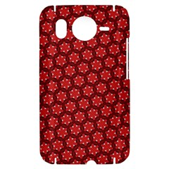 Red Passion Floral Pattern HTC Desire HD Hardshell Case