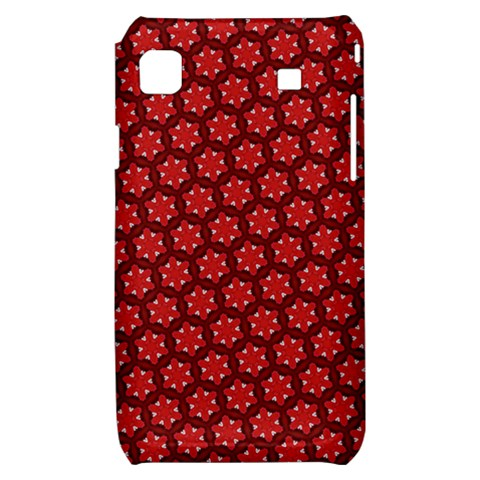 Red Passion Floral Pattern Samsung Galaxy S i9000 Hardshell Case