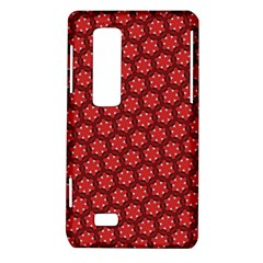 Red Passion Floral Pattern LG Optimus Thrill 4G P925