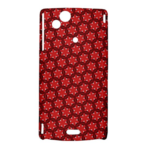 Red Passion Floral Pattern Sony Xperia Arc