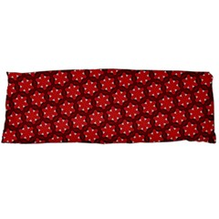 Red Passion Floral Pattern Body Pillow Case (dakimakura)