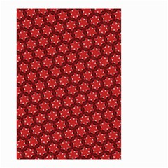 Red Passion Floral Pattern Small Garden Flag (Two Sides)
