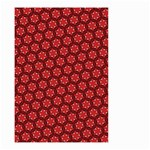 Red Passion Floral Pattern Small Garden Flag (Two Sides) Front