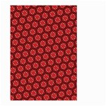 Red Passion Floral Pattern Large Garden Flag (Two Sides) Back