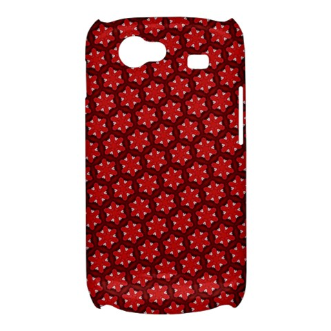 Red Passion Floral Pattern Samsung Galaxy Nexus S i9020 Hardshell Case