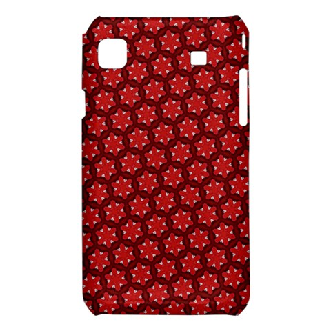Red Passion Floral Pattern Samsung Galaxy S i9008 Hardshell Case