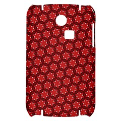Red Passion Floral Pattern Samsung S3350 Hardshell Case