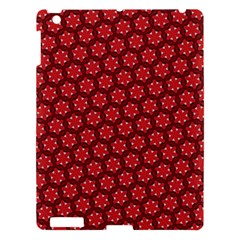 Red Passion Floral Pattern Apple iPad 3/4 Hardshell Case