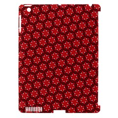 Red Passion Floral Pattern Apple iPad 3/4 Hardshell Case (Compatible with Smart Cover)