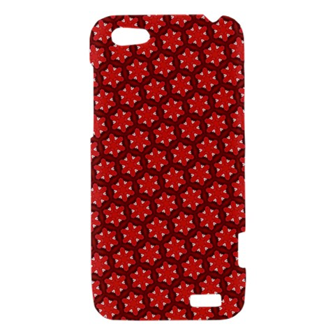 Red Passion Floral Pattern HTC One V Hardshell Case