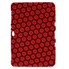 Red Passion Floral Pattern Samsung Galaxy Tab 8.9  P7300 Hardshell Case