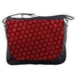 Red Passion Floral Pattern Messenger Bags Front