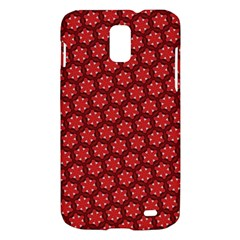 Red Passion Floral Pattern Samsung Galaxy S II Skyrocket Hardshell Case