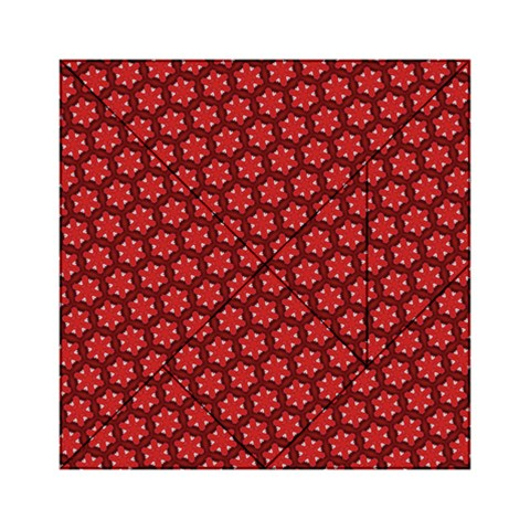 Red Passion Floral Pattern Acrylic Tangram Puzzle (6  x 6 )