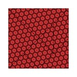 Red Passion Floral Pattern Acrylic Tangram Puzzle (6  x 6 ) Front
