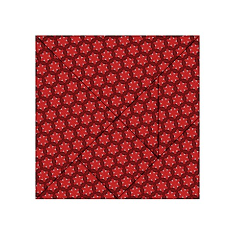 Red Passion Floral Pattern Acrylic Tangram Puzzle (4  x 4 )