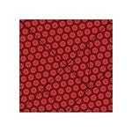 Red Passion Floral Pattern Acrylic Tangram Puzzle (4  x 4 ) Front
