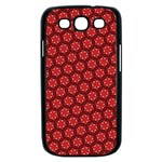 Red Passion Floral Pattern Samsung Galaxy S III Case (Black) Front