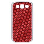 Red Passion Floral Pattern Samsung Galaxy S III Case (White) Front