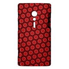 Red Passion Floral Pattern Sony Xperia ion
