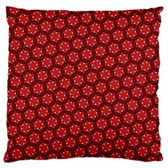 Red Passion Floral Pattern Large Cushion Case (One Side)