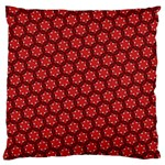 Red Passion Floral Pattern Large Cushion Case (Two Sides) Back