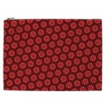 Red Passion Floral Pattern Cosmetic Bag (XXL)  Front