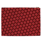 Red Passion Floral Pattern Cosmetic Bag (XXL)  Back