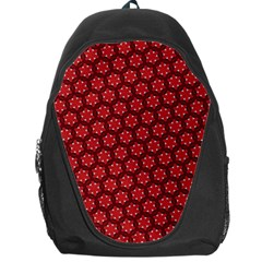 Red Passion Floral Pattern Backpack Bag