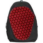 Red Passion Floral Pattern Backpack Bag Front