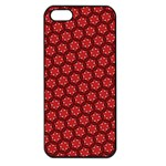 Red Passion Floral Pattern Apple iPhone 5 Seamless Case (Black) Front