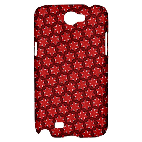 Red Passion Floral Pattern Samsung Galaxy Note 2 Hardshell Case
